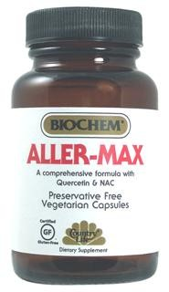 Aller-Max provides a scientifically advanced formula, containing Vitamin C, Quercetin, Bromelain and NAC combined with a synergistic herbal complex, which is designed to provide support in our seasonally changing environment..
