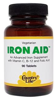 Iron is essential for the formation of red blood cells. An Advanced Iron Supplement with Vitamin C, B-12, and Folic Acid..