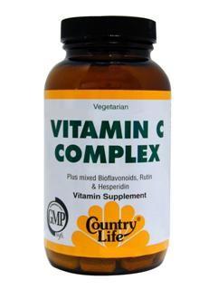 Vitamin C Complex with mixed Bioflavonoids, Rutin & Hesperidin. Vegetarian/Kosher.