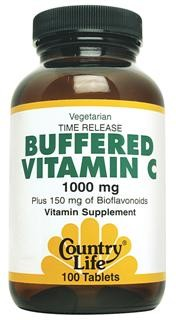 Country Life Buffered Vitamin C has been prepared with natural alkaline Calcium Carbonate and Magnesium Oxide which buffer and neutralize the excess acidity of vitamin C..