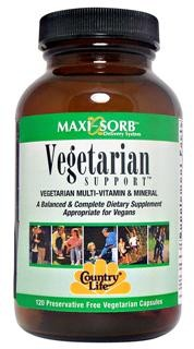 A Balanced & Complete Dietary Supplement Formulated Specifically for Vegetarians. </p><p>Vegetarian, Kosher Dietary Supplement.