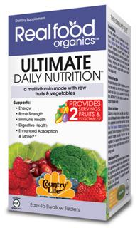 Formulated using the Cryo-Active State technology unique to Country Life, Ultimate Daily Nutrition uses raw organic fruits and vegetables, combined with a nutrient-rich complex to deliver an extraordinary high-energy multi for everyone's health and well being..