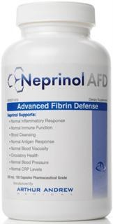 Neprinol is a proprietary combination of Nattokinase, Serratiopeptidase, rutin, alma and other proteolytic enzymes specially formulated to assist and defend your body from the damaging effects of fibrin. Neprinol from Arthur Andrew Medical - Highest Potency Systemic Enzyme Blend Available - Compare to Trevinol ES, Wobenzym N, Toto-Zymes.