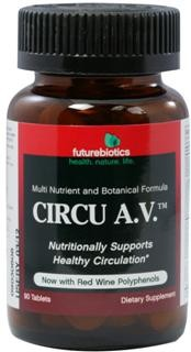Circu A.V.™ is a multi-nutritional approach to nutritionally supporting healthy circulation* by helping to provide nutrients that may be lacking from the diet.  Among the nutrients included in Circu A.V.is Niacin (nicotinic acid), a B vitamin. Niacin is a vasodilator, meaning it dilates the veins and increases blood flow. Niacinamide is another form of Niacin..