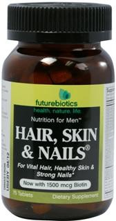 Hair, Skin & Nails for Men is based on the same #1-selling, nutrient-intense formula as the women's formula with the added benefit of 25 mg of zinc per daily dose and other select nutrients for men..