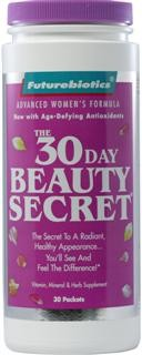Optimal health while aging requires essential building blocks to support the supple skin, lustrous hair and strong nails you desire. That is why the most effective beauty treatment you can give yourself is the glowing good health of superior nutrition - the kind of nutrition provided by The 30-Day Beauty Secret..