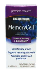 MemoryCell� offers a combination of a university proven blend of active botanicals and antioxidants, along with a unique blend of enzymes to support healthy memory and brain function..