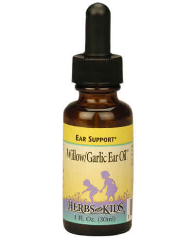Willow/Garlic Ear Oil (2 fl.oz) is a topical oil that combines garlic and herbs that may help alleviate ear infection or Otitis..