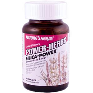 Organic Silica supplement from potent standardized Springtime Horsetail Extract, concentrated and standardized for a minimum of preferred 30 mg Silicic Acid..