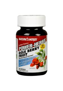 Nature's Herbs® Goji Berry is a highly concentrated SuperFruit extract from the whole berry and contains the antioxidant Zeaxanthin, which is considered to be an important source of Goji's beneficial properties, and is responsible for Goji's rich red color..