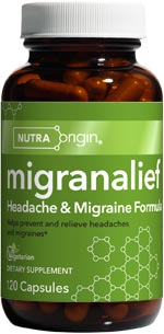 Migranalief Headache & Migraine Supplement helps relieve the pain and pressure of occasional headaches..