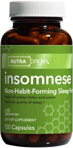 Insomnese Non-Habit-Forming Sleep Supplement advanced  formula relieves occassional sleeplessness and improves quality of sleep..
