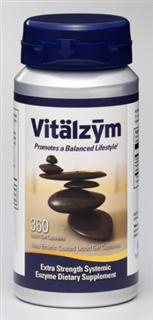 Join the Vitalzym revolution. No other systemic enzyme product compares to the extra strength delivered by the revolutionary Vitalzym Extra Strength Enterically Coated capsules..