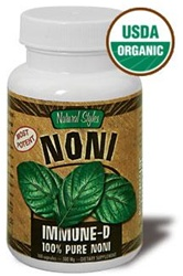 Immune D Capsules - USDA Certified Organic, 100% Pure Noni Leaf.