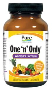 No other one daily multivitamin for women comes close to the power packed into One & Only Womens Formula by Pure Essence Labs. Designed for Holistic Cellular Health..