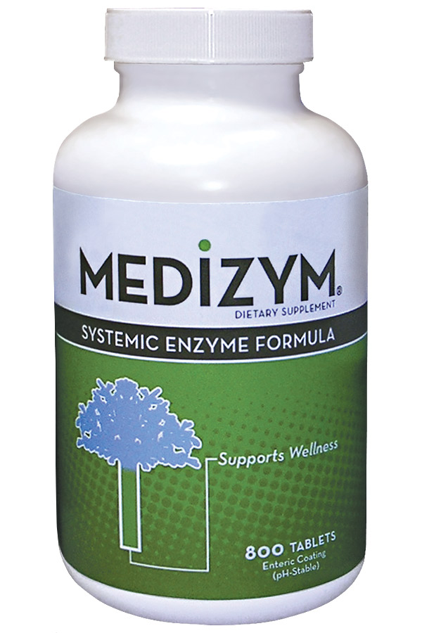 Medizym from Naturally Vitamins provides naturally occurring enzymes to enhance immunity, reduce inflammation, relieve pain, and aid the body in the healing process..