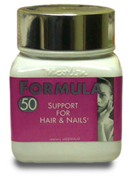Formual 50 from Naturally Vitamins consists of a balanced, clinically proven formula which helps support healthy hair and nails..
