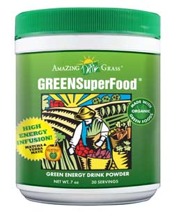 Amazing Grass Green SuperFood Energy is a perfect blend of alkalizing greens, antioxidant rich whole food fruits and vegetables, immune boosting support herbs, and friendly pre & probiotics along with a kick of energy from yerba mate and matcha. .