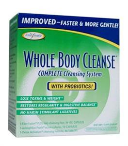 Feeling fatigued, constipated and bloated? This may be your body telling you it's time to rid your body of built up toxins. Enzymatic Therapy Whole Body Cleanse Complete 10-day Cleansing System also includes essential probiotics to restore the digestive tract. Environmental toxins build up in the body no matter how healthy our diet is. Gentle cleansing restores and utilizes vital nutrients to feel healthier, lighter and energized..