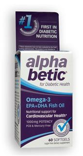 Omega-3's are 'healthy good fats' the body needs to function properly. Because heart disease is the #1 health issue facingdiabetics, taking an omega-3 supplement may be helpful..