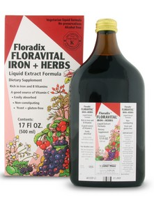 Floravital has all the same benefits as the classic iron tonic Floradix, but it's free of the brewer's yeast, gluten and honey..