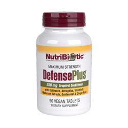 Grapefruit Seed Extract Defense Plus by Nutribiotics works to enhance immune system function and naturally fight infection, bacteria, and viruses..