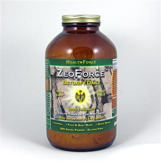 ZeoForce naturally holds a negative charge and will bond with toxins for safe and effective removal.  It can also be used externally for face & body masques, or added to your bath water for a detoxifying soak. Vegan Formula..