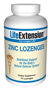LifeExtension- Zinc Lozenges a unique source of Zinc, a mineral that stimulates the activity of approximately 100 enzymes, which are substances that promote biochemical reactions in your body. Strengthen your immune system this winter with Zinc..
