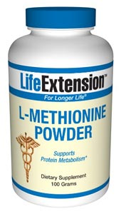 Supplemental L-methionine is especially recommended for people on a vegetarian diet. Supports Protein Metabolism..