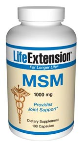 LifeExtension- MSM 1000 mg. As people age, systemic inflammation can inflict degenerative effects throughout the body. A primary cause of this destructive cascade is the production of cell-signaling chemicals known as inflammatory cytokines. .