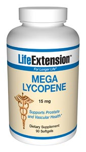 Mega Lycopene- Lycopene may be an important substance in maintaining prostate health.  A recent clinical trial demonstrated that lycopene at a dose of 15 mg per day can significantly improve markers of the PSA test results..