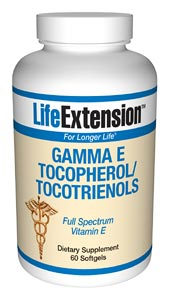 Gamma E Tocopherol/Tocotrienols- According to the Proceedings of the National Academy of Sciences, alpha tocopherol (regular vitamin E) displaces critically important gamma tocopherol in the cells. While alpha tocopherol inhibits free radical production..