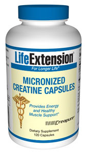 Creatine Capsules- Creatine is a non-protein amino acid derivative found in human tissue that is synthesized from the amino acids L-arginine, glycine, and L-methionine..