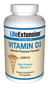 Vitamin D3 5,000 IU- Vitamin D is synthesized in the body from sunlight. But, due to the winter season, weather conditions, and sunscreen blockers, the bodys ability to produce optimal vitamin D.