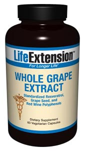 Life Extensions Whole Grape Extract has been reformulated to provide even higher levels of standardized proanthocyanidins found in grape seed and skins than in the previous formula..