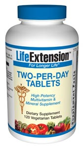 Two-Per-Day Tablets the most comprehensive nutrient formula in the world is Life Extension Mix. Some Foundation members, however, prefer to take their nutrients separately, and they need only a basic multi-nutrient supplement to fill their needs..