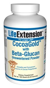CocoaGold with Beta-Glucan Unsweetened Powder  provides a neutral tasting, unsweetened beta-glucan complex that has been developed to provide the healthy lipid-promoting benefits of oats along with cocoa polyphenols in each serving..