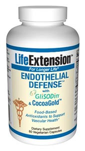 Endothelial Defense provides the three best-documented nutrients to help you maintain healthy arterial blood flow and healthy normal blood pressure..