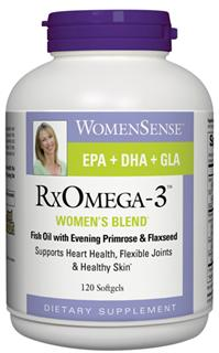 RxOmega-3 Women blend naturally promotes heart health, flexible joints and healthy glowing skin..