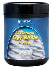Muscle recovery with Vanilla flavored Egg Protein from MRM is a must for workouts, and easy on the stomach..