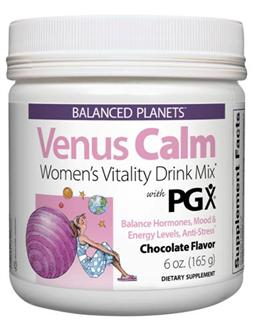 Venus Calm is a delicious chocolate drink mix specifically formulated for women to promote vitality, balance hormones and sustain energy while maintaining a sense of calm..