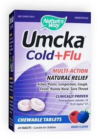 Umcka Cold plus Flu, Nature's Way Clincally proven Pelargonium sidoides 1X plus Alpha CF. Recover Faster. Stay Healthy Longer..