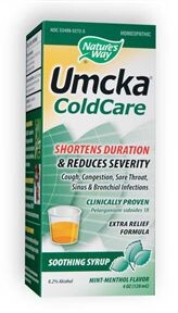 Umcka Cold Care Menthol Syrup is effective relief from upper respiratory tract irritations. Shortens the duration of the cold. A must have for winter!.