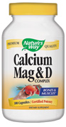 Calcium and magnesium are essential for healthy bones, teeth and muscle function. Vitamin D assits in the proper transport and retention of calcium..