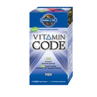 Vitamin Code Men's Formula is a comprehensive multi-vitamin with RAW Food-Created Nutrients offering an extreme synergistic blend of vitamins and minerals for extraordinary health and vitality. Providing select nutrients to support the primary areas of prostate health with added vitamin E, lycopene, selenium and zinc, mental and physical energy with vitamin B complex and chromium, and heart health with vitamin B complex, vitamins C and E..