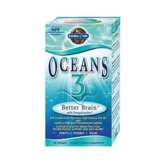 Brain health and memory loss are issues of concern for more and more people every day. But now, there is Oceans 3 Better Brain, the only Omega-3 supplement available with OmegaXanthin, a synergistic complex of three health-promoting compounds from the ocean plus a dynamic suite of three clinically studied ingredients designed to support neurological and brain function..