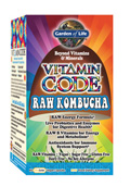 One serving of Vitamin Code RAW Kombucha contains at least 200% of the Recommended Daily Value of all seven. B vitamins are great for energy, meaning that Vitamin Code RAW Kombucha could be considered raw energy in a capsule..