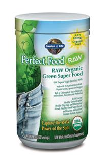 Perfect Food RAW is RAW, whole food nutrition providing naturally occurring antioxidants, enzymes, amino acids, essential fatty acids, and dozens of phytonutrients. Bursting with prebiotics, probiotics, and enzymes to support healthy digestion and nutrient absorption,† Perfect Food RAW is the convenient and sensible way to get your veggie juice every day..