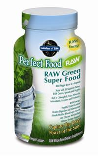 Perfect Food RAW is RAW, whole food nutrition providing naturally occurring antioxidants, enzymes, amino acids, essential fatty acids, and dozens of phytonutrients. Bursting with prebiotics, probiotics, and enzymes to support healthy digestion and nutrient absorption, Perfect Food RAW is the convenient and sensible way to get your veggie juice every day..