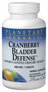 Cranberry's unique constituents are noted for their anti-adhesion qualities, which support a healthy genito-urinary tract. Planetary Herbals Cranberry Bladder Defense.
